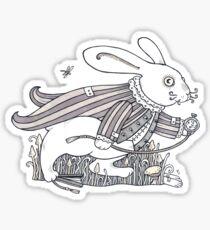 The White Rabbit Rush  Sticker