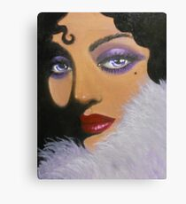A MYSTERIOUS AND ELEGANT LADY Canvas Print