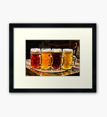 The beer lineup Framed Print
