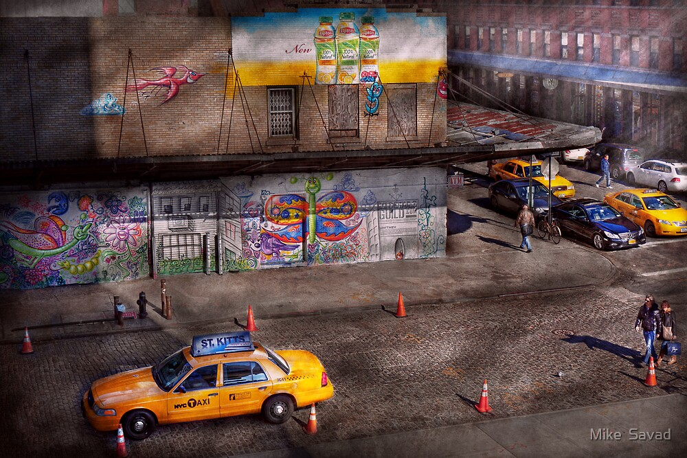 City - New York - Greenwich Village - Life's color by Michael Savad