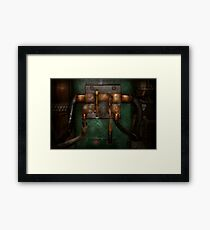 Steampunk - Electrical - Pull the switch  Framed Print