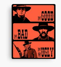 BTTF: The good, the bad and the ugly Canvas Print