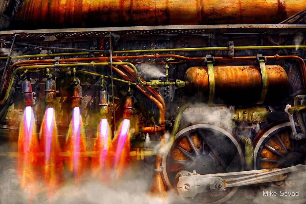 Steampunk - Train - The super express  by Michael Savad
