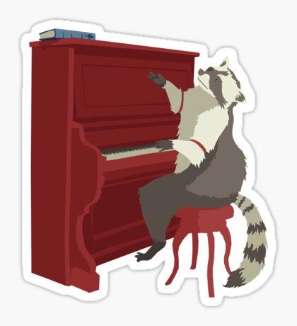 Honkey Tonk Racoon Sticker