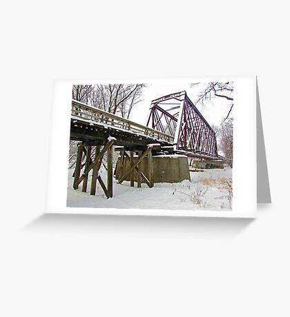Rusty Snow Greeting Card