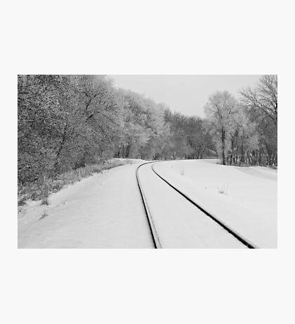 Snow Tracks Photographic Print