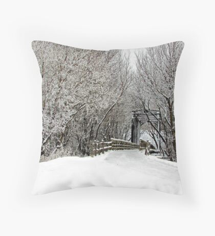 Trestle in the Trees Throw Pillow