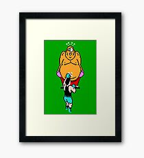 Punch Out King Hippo Framed Print