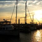 Palafox Pier at sundown by Bill Gamblin