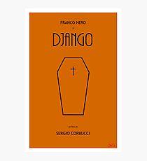 Django custom movie poster Photographic Print