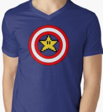 Captain Mario Mens V-Neck T-Shirt