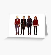 winter fashions caws crew Greeting Card