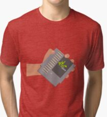 Vsauce outro NES cartridge Tri-blend T-Shirt