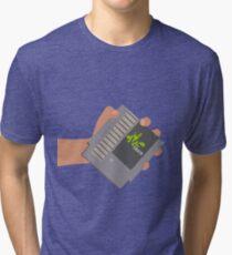 Vsauce outro NES cartridge Tri-blend T-Shirt