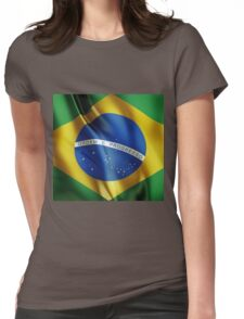 Brazil flag Womens Fitted T-Shirt