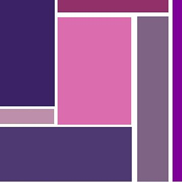 Bold, Abstract Geometric Design in Purple and Pink by ArtformDesigns