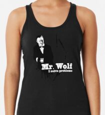 Mr. Wolf Racerback Tank Top