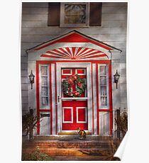 Door - Winter - Christmas kitty Poster