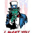 "UNCLE ZOMBIE ""I WANT YOU"" by mqdesigns13"