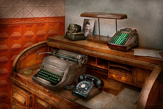 Accountant - Typewriter - The accountants office by Michael Savad