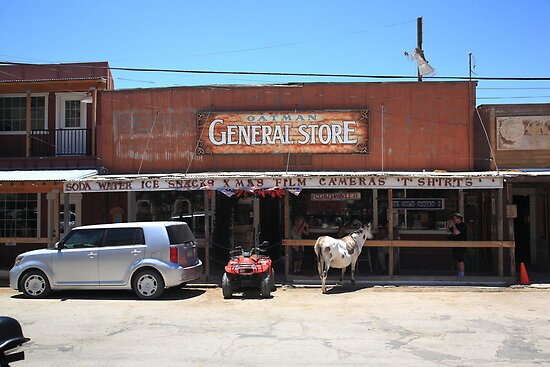 Route 66 - Oatman General Store by Frank Romeo