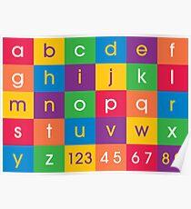 Alphabet Colors Poster