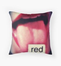 red (featured work) Throw Pillow