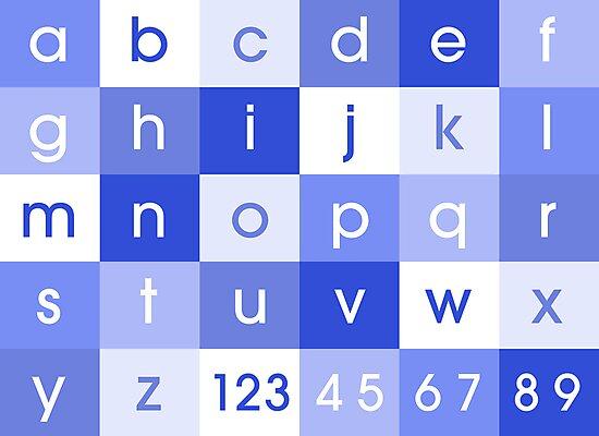 Alphabet Blue by Michael Tompsett