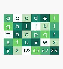 Alphabet Green Photographic Print