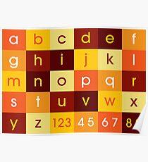Alphabet Sunset Poster