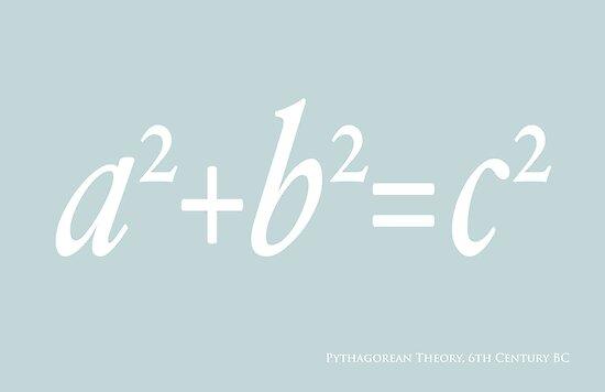 Pythagoras Maths Equation by Michael Tompsett