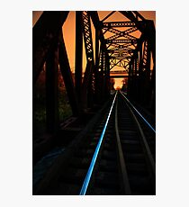 Sunset on the trestle  Photographic Print