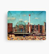 Vintage Coney Island  Canvas Print