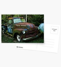 52 or 53 Chevy PU Postcards