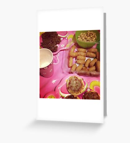Party food Greeting Card