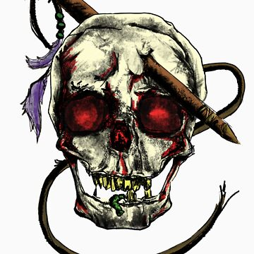 Impaled Skull by CL4P-TP