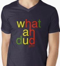 WHATAHDUD Men's V-Neck T-Shirt