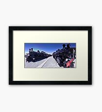 Steam Engines Pano Framed Print