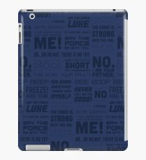 The Force Quotes - Navy iPad Case/Skin