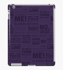 The Force Quotes - Purple iPad Case/Skin