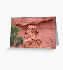 Indian Profile,Kodachrome State Park,Utah,USA Greeting Card