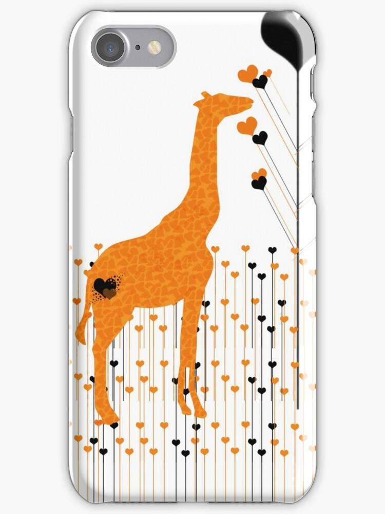 Orange Giraffe by MissKellyEwing