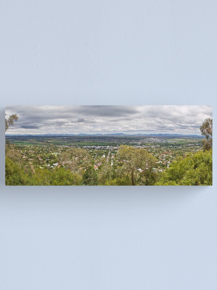 Alternate view of Tamworth from the Lookout Canvas Print