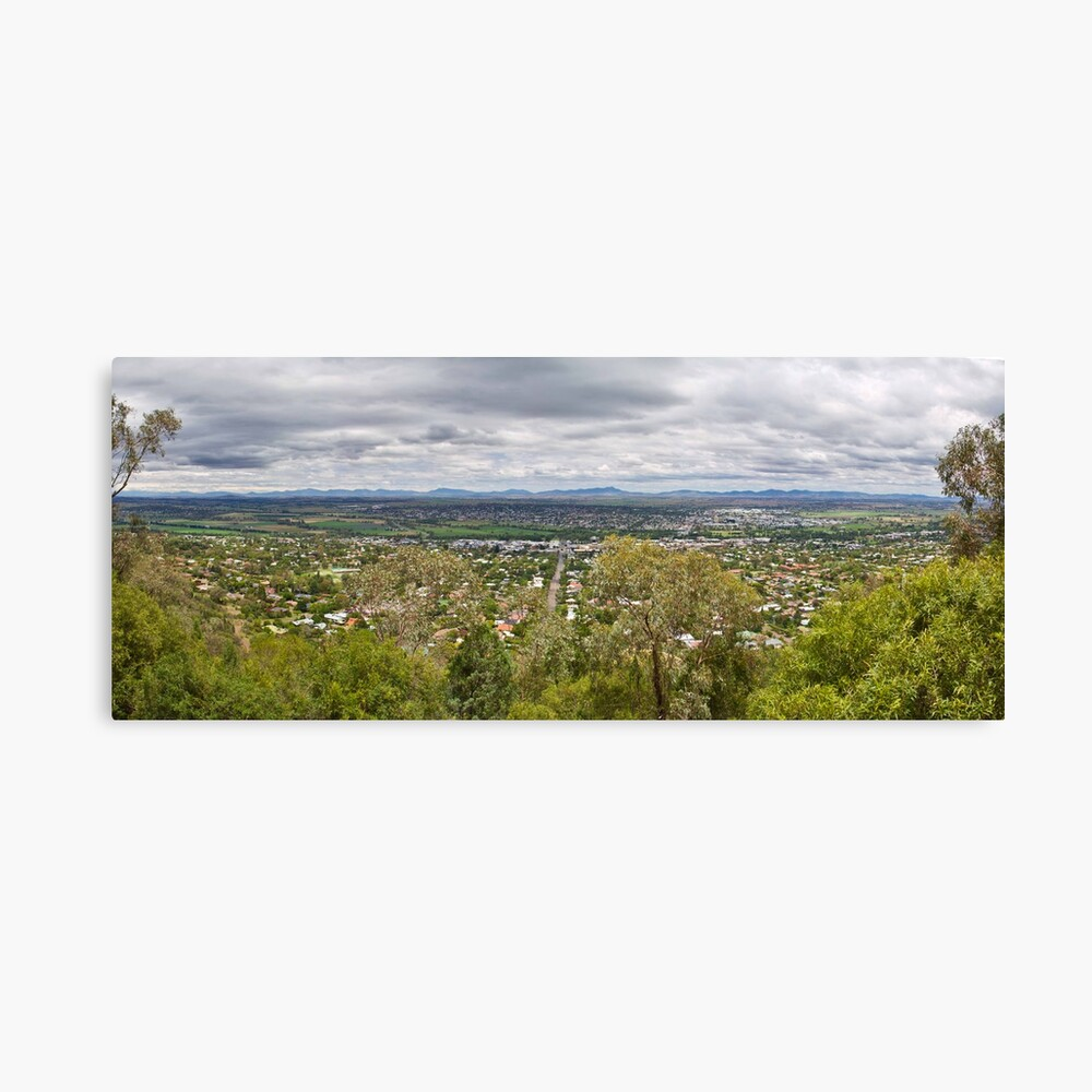 Tamworth from the Lookout Canvas Print