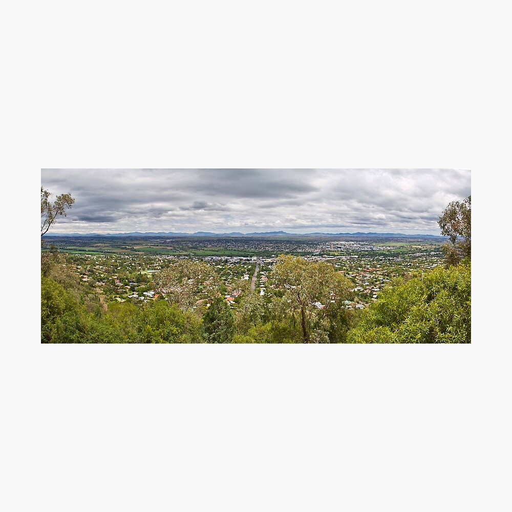 Tamworth from the Lookout Photographic Print
