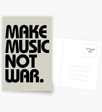 Make Music Not War Postcards