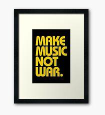 Make Music Not War (Mustard) Framed Print