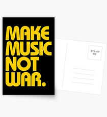 Make Music Not War (Mustard) Postcards