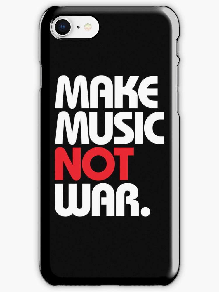 Make Music Not War (black/red) by DropBass