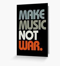 Make Music Not War (Retro) Greeting Card